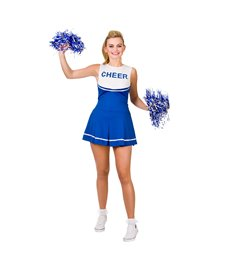 High School Cheerleader - Blue (S)