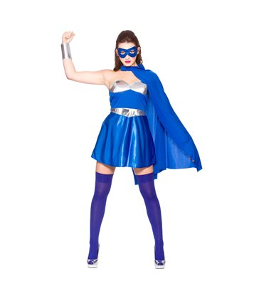 Hot Super Hero - Blue/Silver (XS)~