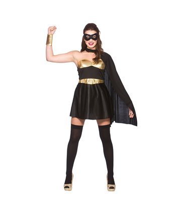 Hot Super Hero - Black/ Gold (XS)~