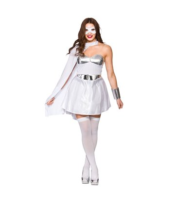 Hot Super Hero - White/Silver (XS)~