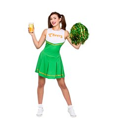 """Cheers"" St Patricks Cheerleader (XS)~"
