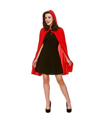 Short Red Cape with Hood