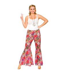Flower Power Hippie Pants (L)