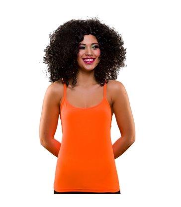 80's Neon Vest Top - Orange (XS/S)