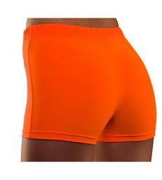 80's Neon Hot Pants - Orange (XS/S)