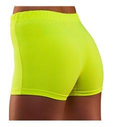 80's Neon Hot Pants - Yellow (XS/S)
