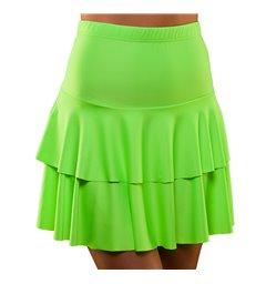 80's Neon Ra Ra Skirt - Green (XS/S)