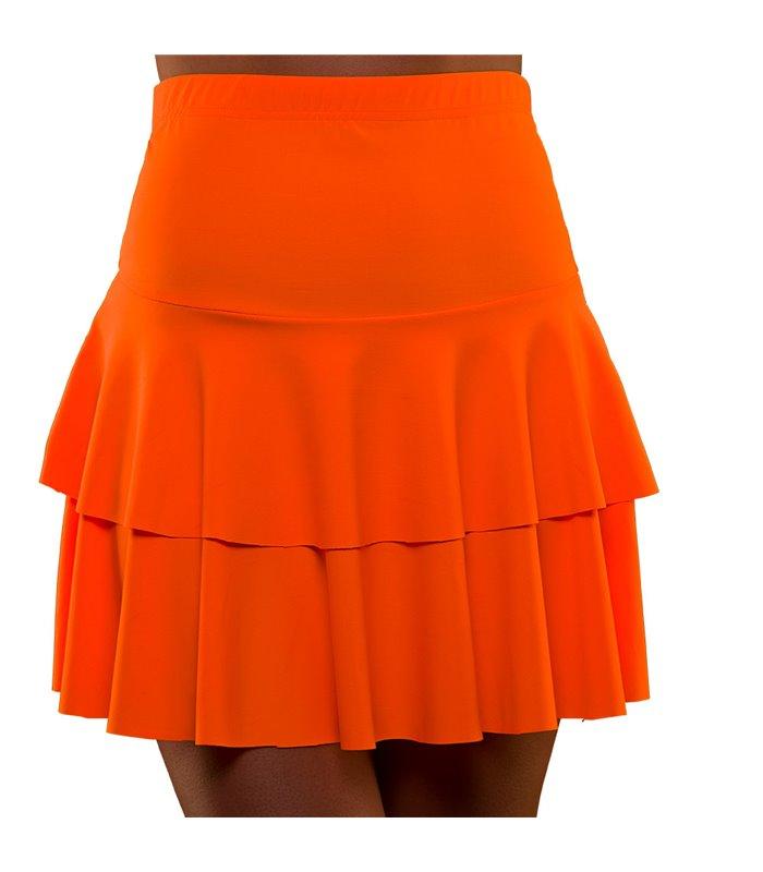 80's Neon Ra Ra Skirt - Orange (M/L)