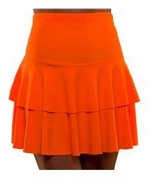 80's Neon Ra Ra Skirt - Orange (XS/S)