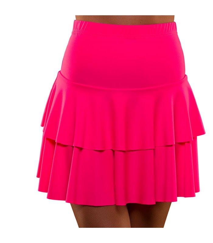 80's Neon Ra Ra Skirt - Pink (M/L)