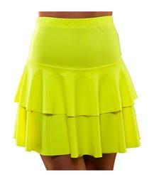 80's Neon Ra Ra Skirt - Yellow (M/L)