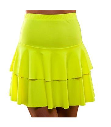 80's Neon Ra Ra Skirt - Yellow (XS/S)