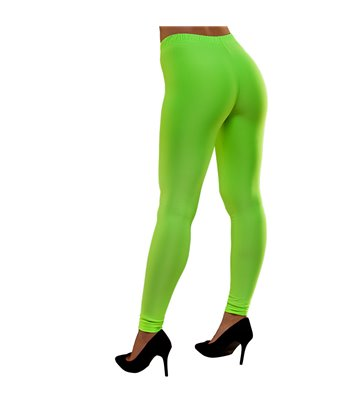 80's Neon Leggings - Green (XS/S)