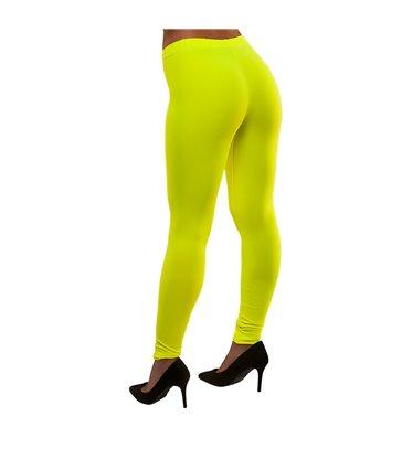 80's Neon Leggings - Yellow (XS/S)