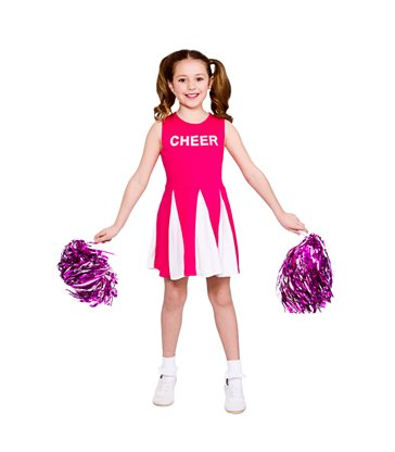 Girls Cheerleader  - Hot Pink (3-4)