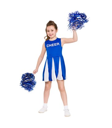 Girls Cheerleader  - Blue (3-4)