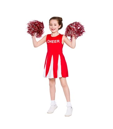 Girls Cheerleader  - Red (3-4)