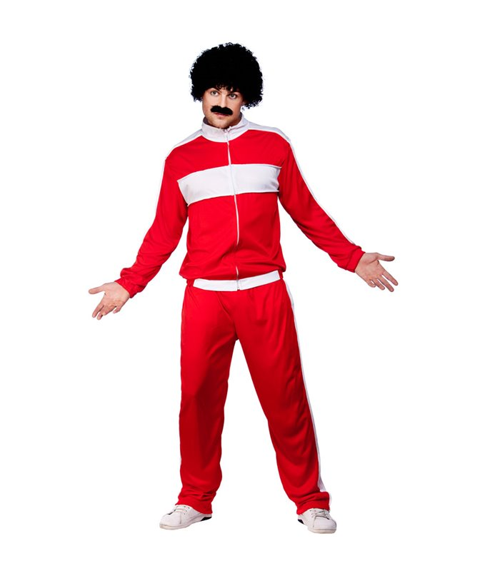 80's Retro Trackie - Red (Plus Size)