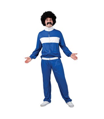 80's Retro Trackie - Blue (One Size)