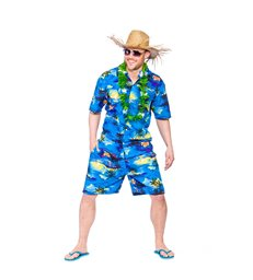 Hawaiian Party Guy - Blue Palm