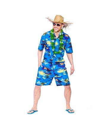 Hawaiian Party Guy - Blue Palm