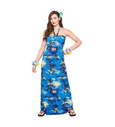 Hawaii Maxi Dress - Blue Palm (M)
