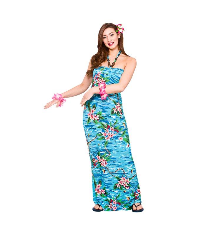 Hawaii Maxi Dress - Orchid Ocean (M)