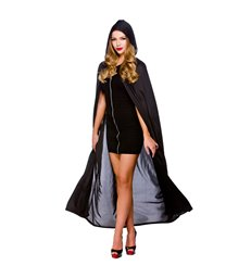 Adult Hooded Cape 132cm - BLACK