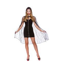"Deluxe Spider Web Cape with hood - 39"" (98cm)"