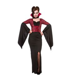 BLACK CAPES W/RED COLLAR - CHILD SIZE