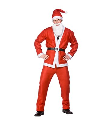 Santa Suit 5pc  (Adult Plus Size)