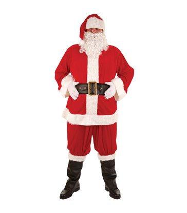 Super Deluxe 8pc Santa Suit (Plus Size)