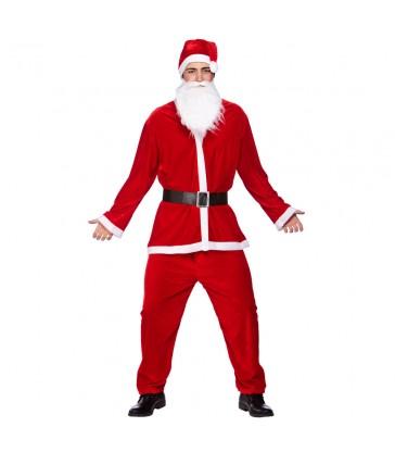 Deluxe Velour 5pc Santa Suit (Adult Plus Size)