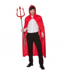 Adult Hooded Cape 132cm - RED