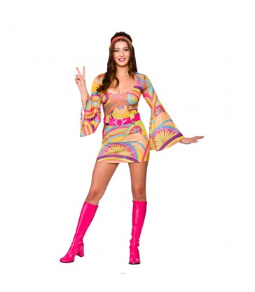 Retro Go-Go-Girl - Psychedelic (XL)