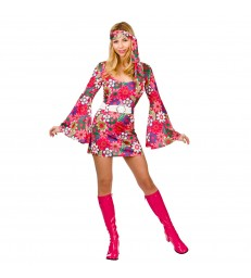 Retro Go-Go Girl - Flower Print (L)