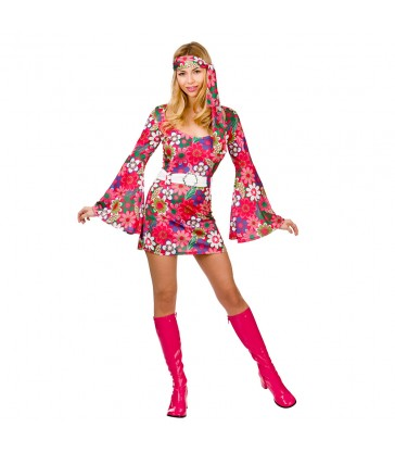 Retro Go-Go Girl - Flower Print (M)