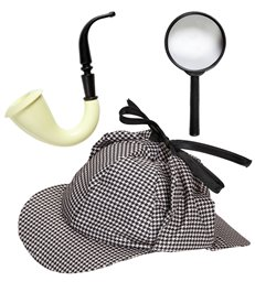 DETECTIVE SET (hat pipe magnifying lens)