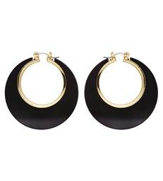 BLACK & GOLD DISCO EARRINGS