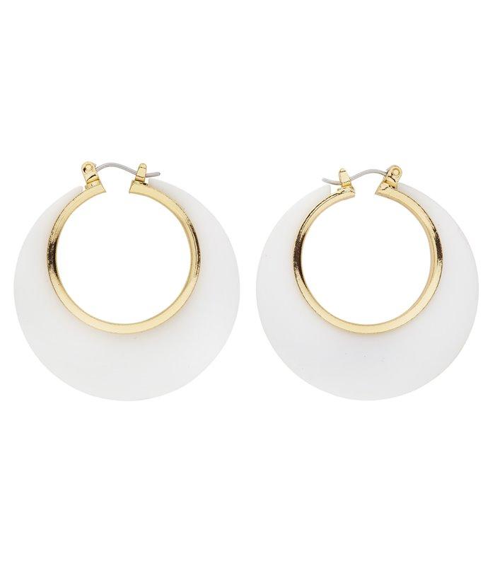 WHITE & GOLD DISCO EARRINGS