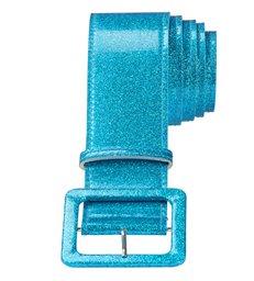 BLUE GLITTER BELT 120 cm