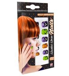 SET OF 12 S/ADHES HAUNTED HOUSE NAILS child size