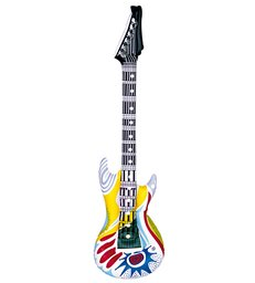 INFLATABLE GUITAR - FUNKY WHITE MULTI
