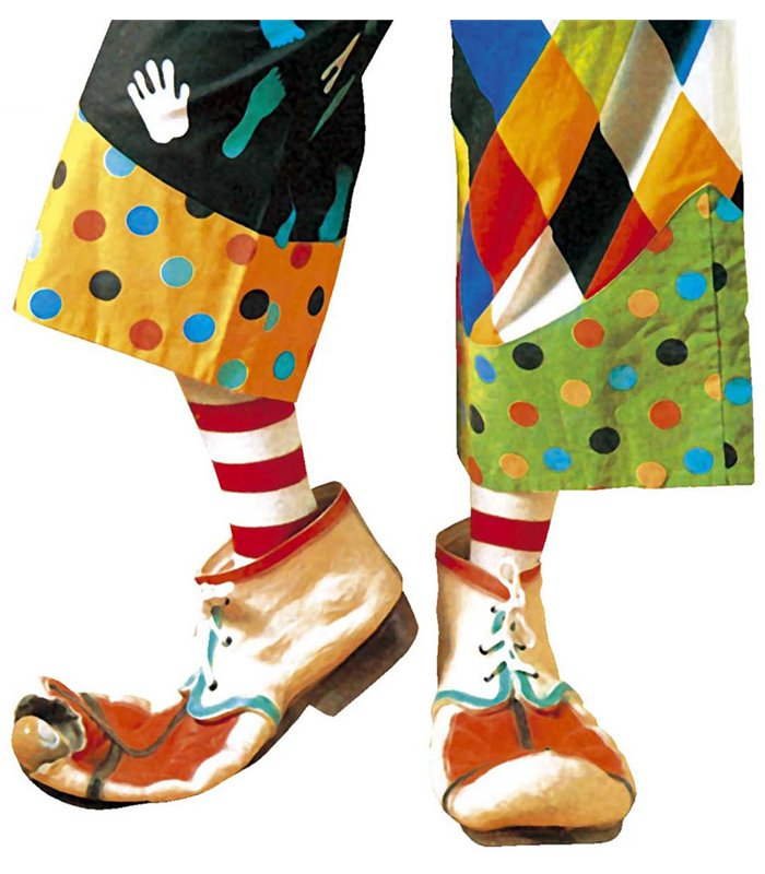 LATEX CLOWN SHOES - CHILD SIZE