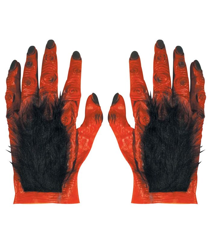 MAXI HAIRY DEVIL HANDS IN LATEX