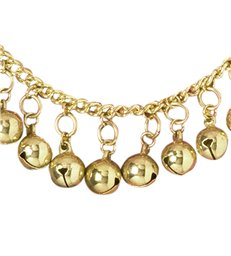 ANKLETS WITH GOLD BELLS