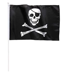 PIRATE FLAG ON STICK 43cm x 30cm
