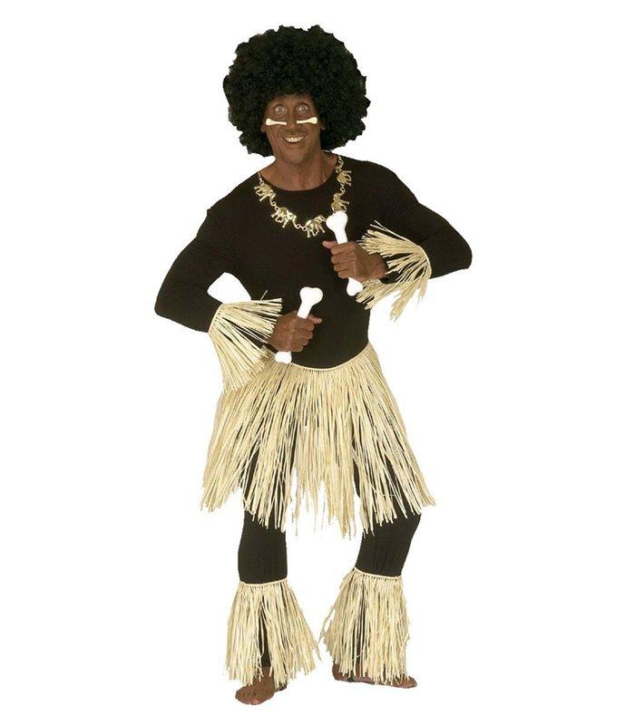 ZULU SET RAFFIA  (skirt arm pieces leg pieces)