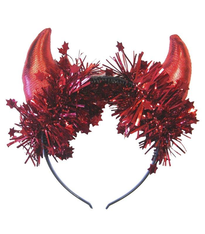 METALLIC RED HORNS