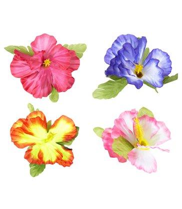 HIBISCUS FLOWER HAIR CLIP - 4 colours